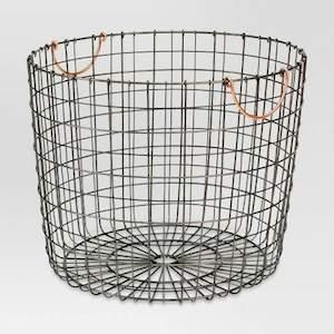 Threshold round metal basket