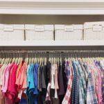 closet detail flannels