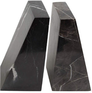 OKL marble bookends