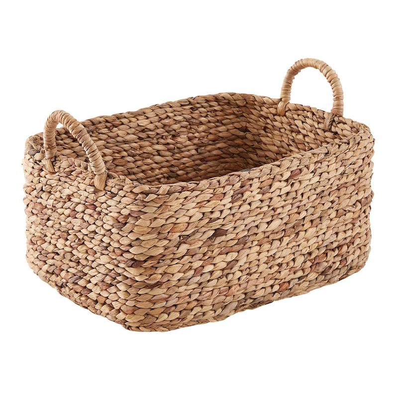 Hyacinth braided basket