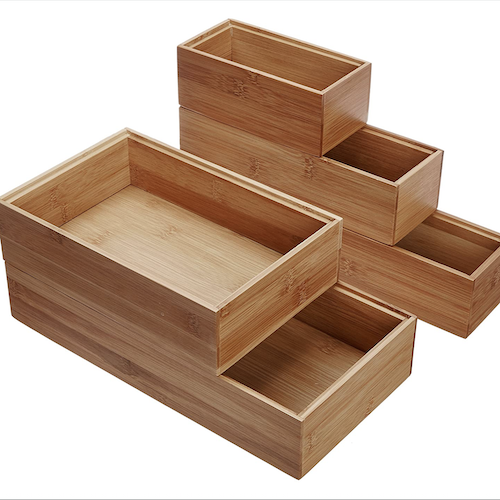 Lipper Bamboo Drawer Organizers