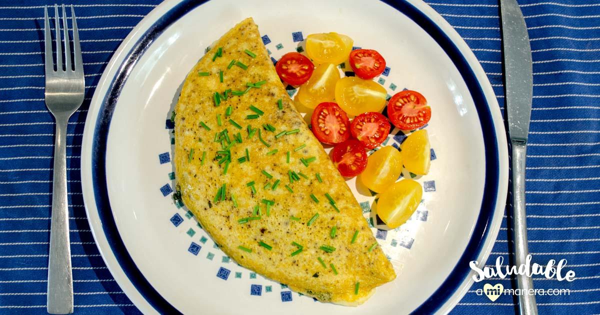 Omelette De Kale, Cebolla Morada Y Queso