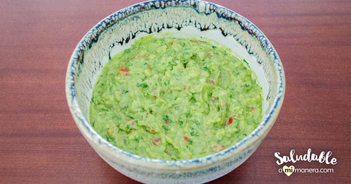 Guacamole Con Yogurt Griego Sin Grasa