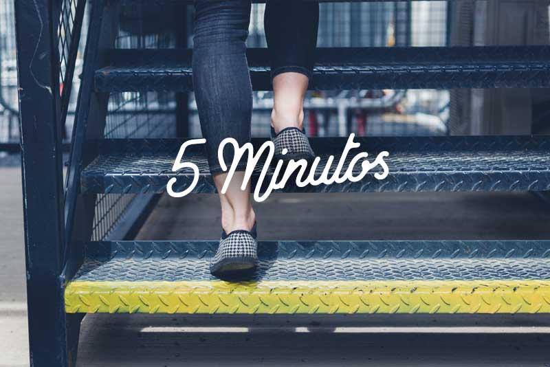 Rutina fácil para caminar 5 minutos