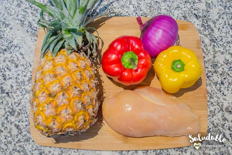 Ingredientes pollo con salsa agridulce