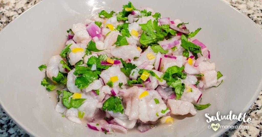 Ceviche peruano de pescado blanco
