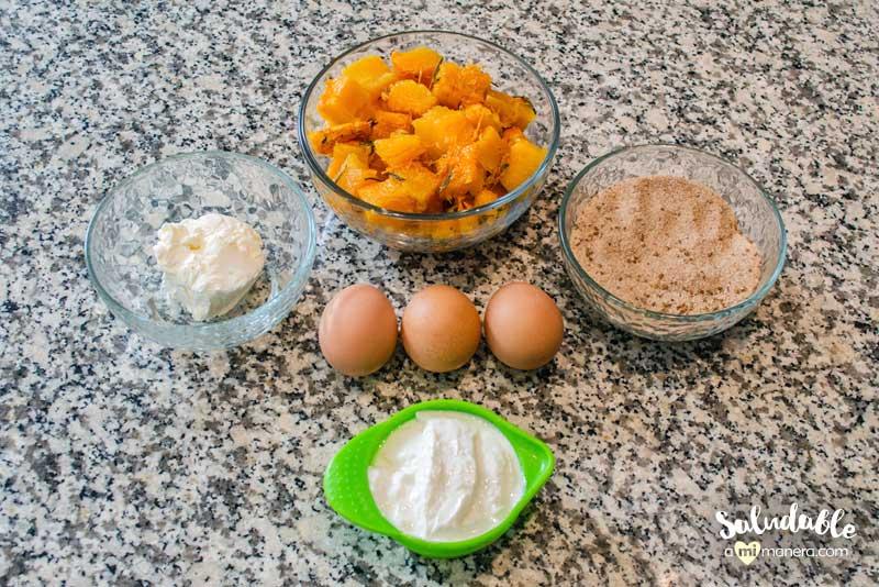 Pay de calabaza con avena y yogurt griego