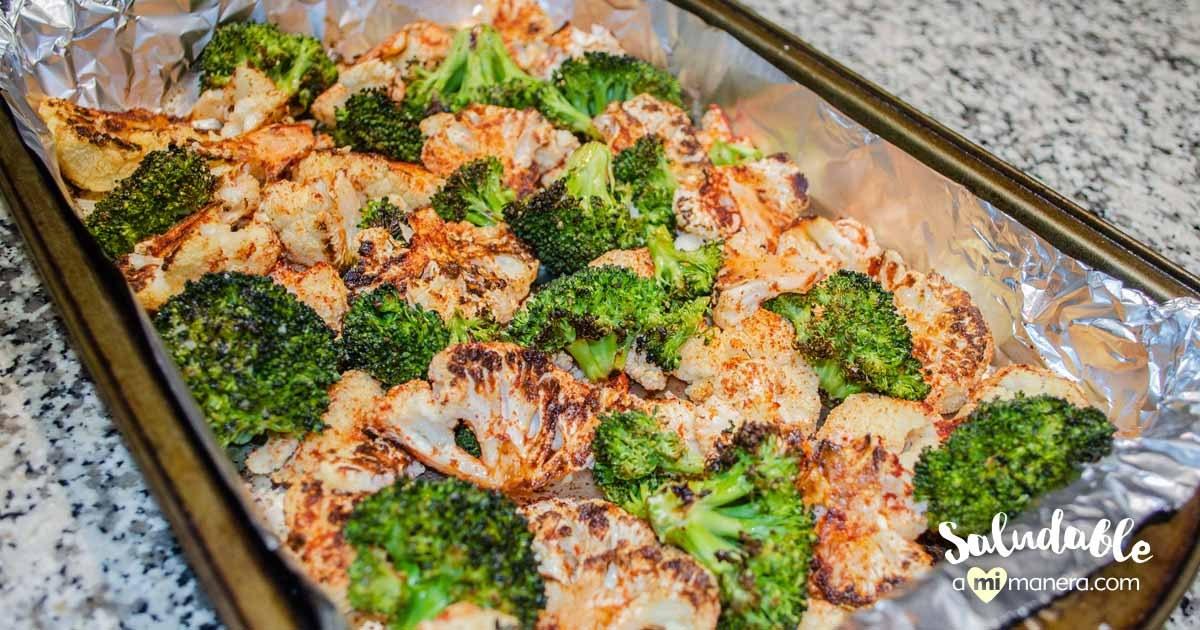 Coliflor Con Brócoli Al Horno