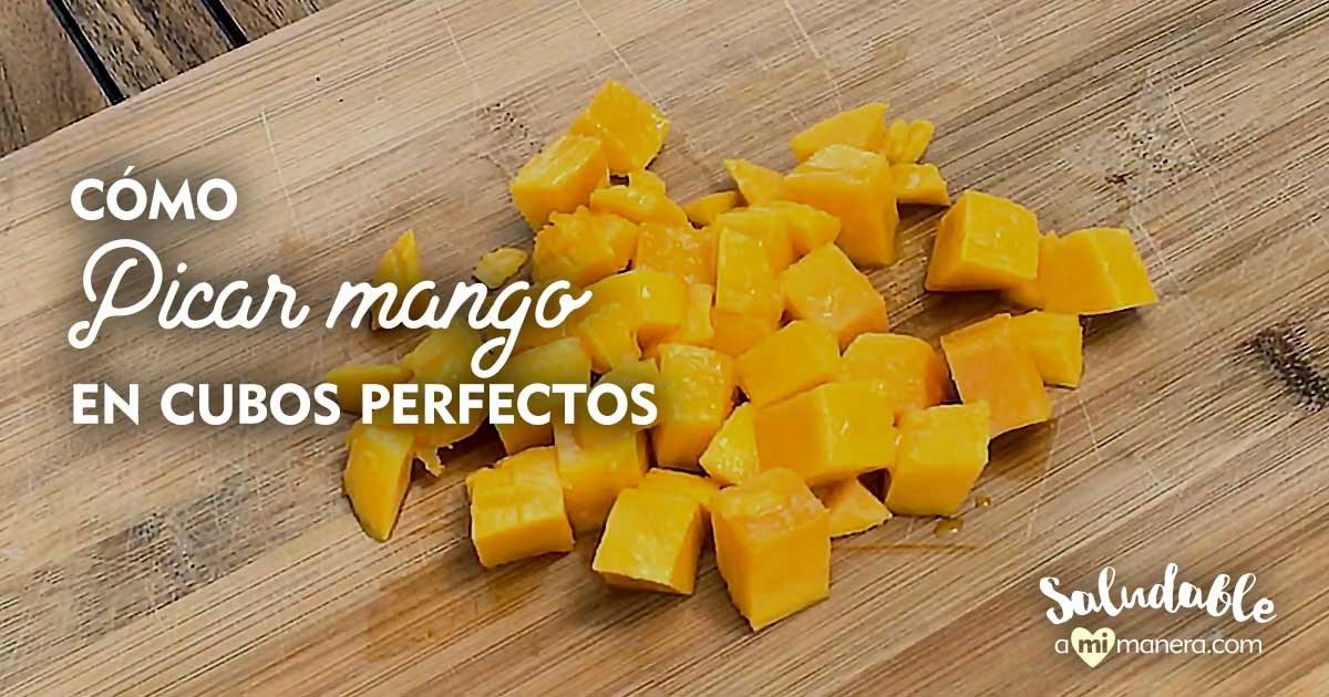 Cómo Picar Mango En Cubos Perfectos