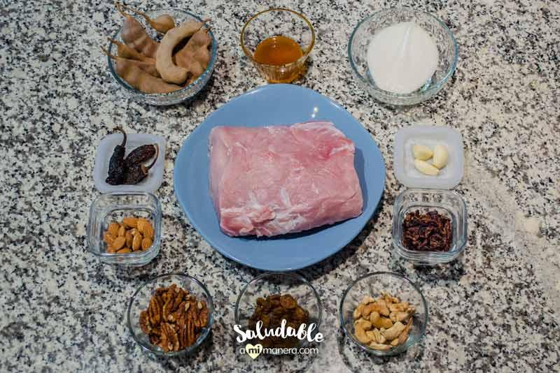 Ingredientes para Lomo mechado en salsa de tamarindo