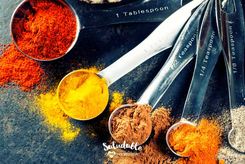 Ingredientes saludables Hierbas y especias