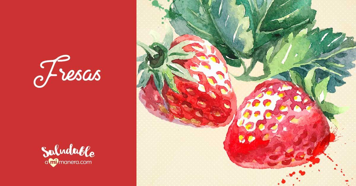 Fresas Nutrientes Y Beneficios