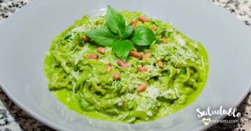Espagueti De Calabacita Con Pesto De Albahaca