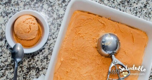 Helado De Mamey Y Yogurt Griego Sin Grasa