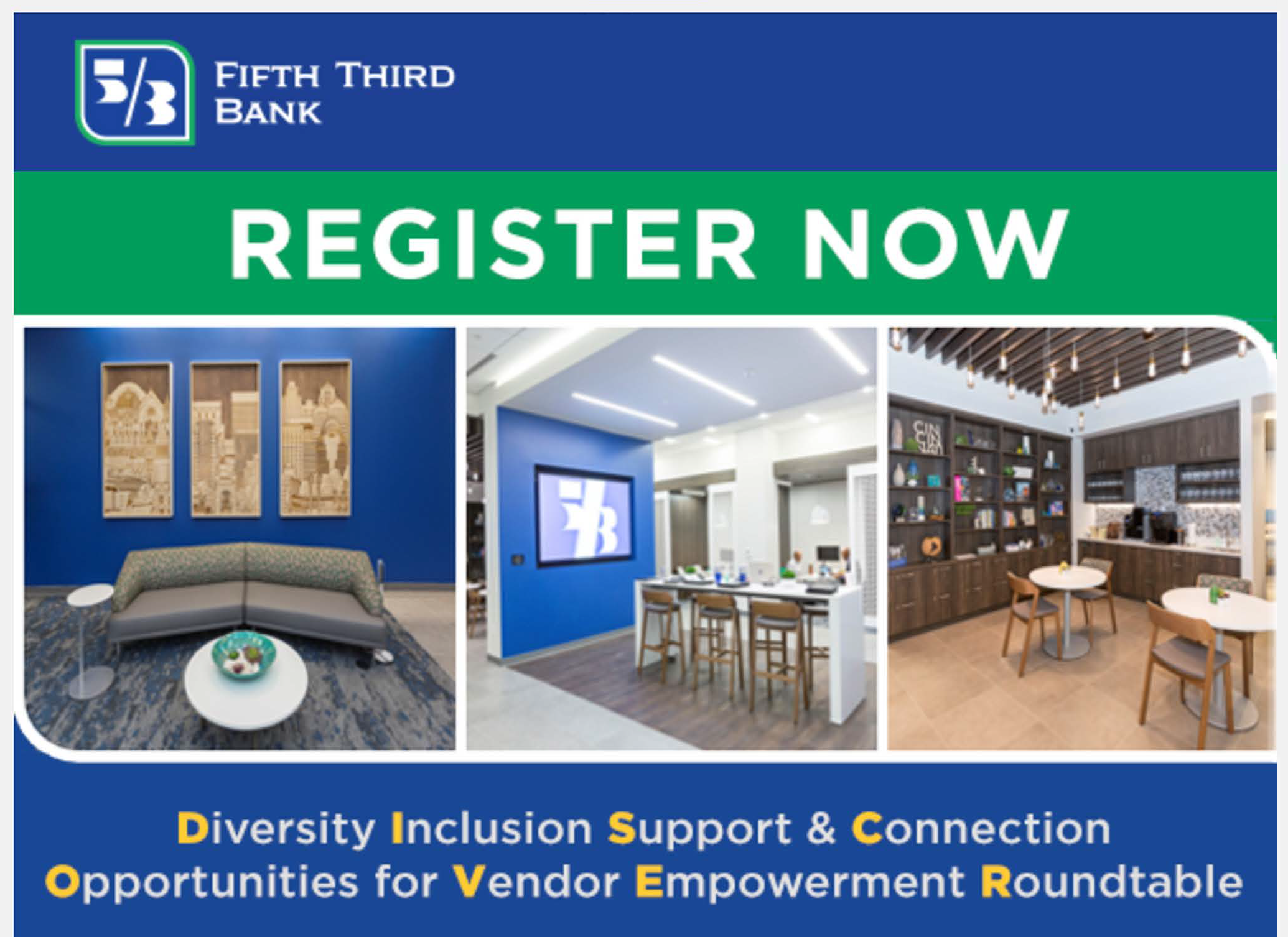 Fifth Third Supplier Diversity event for construction and property management suppliers on January 27th