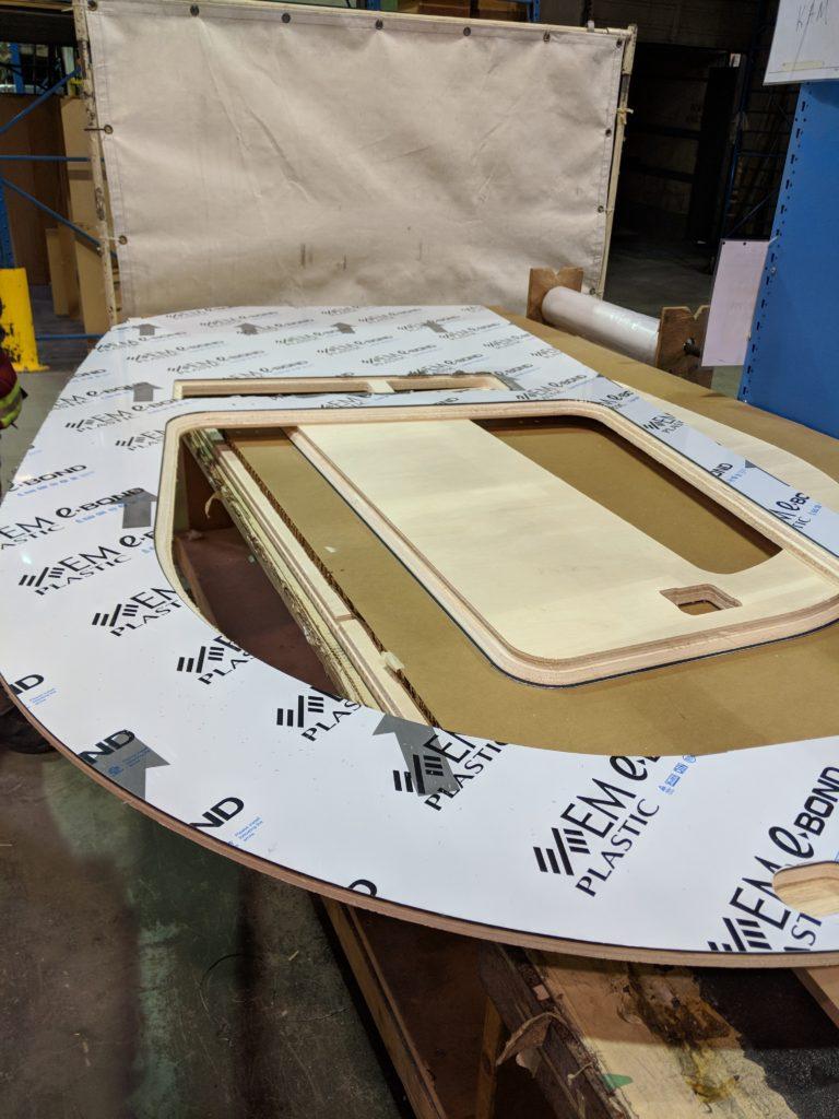 cnc laminated panels before assembly