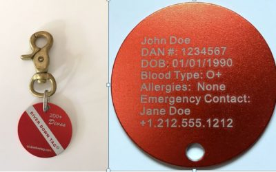Scuba Diver ID Tags for BCDs