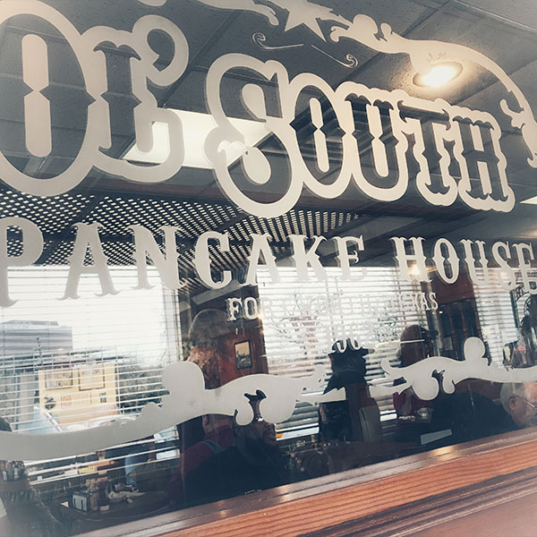Ol South Pancake House Glass Sign