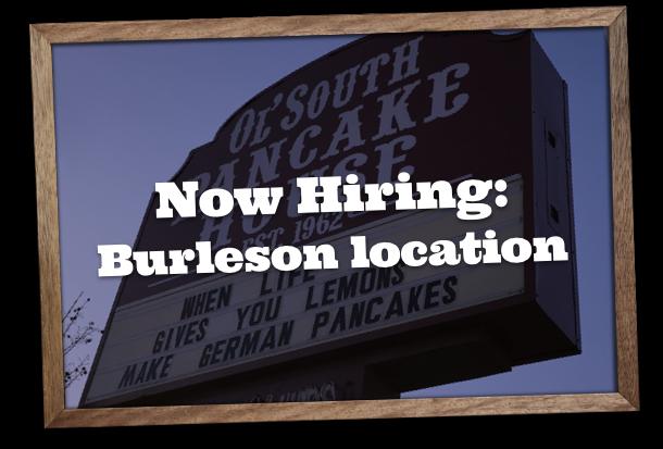Now Hiring in Burleson, Texas location