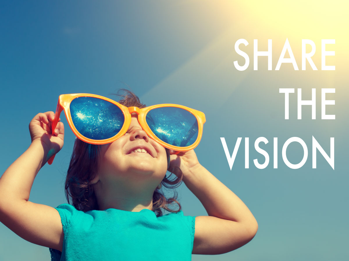 Share the Vision Campaign graphic