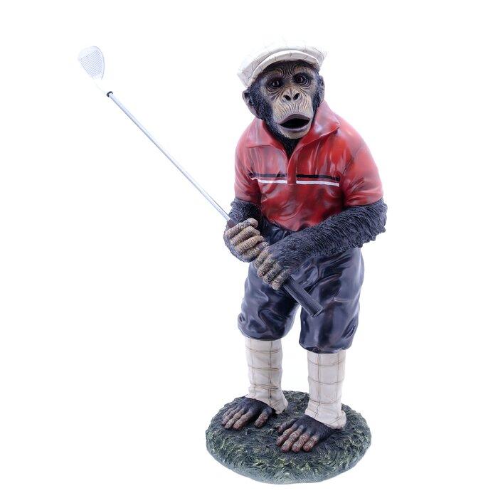 Golfer+Monkey+Statue