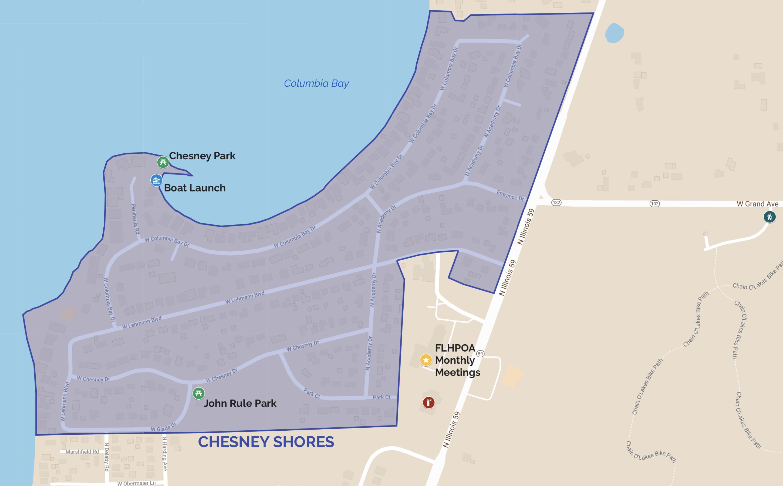 Chesney Shores Map
