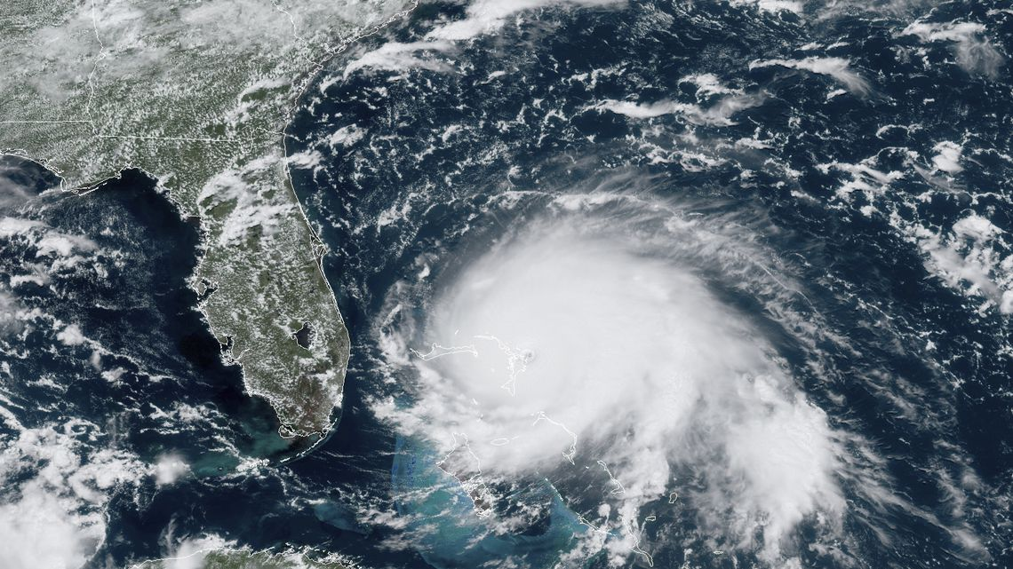 Satellite Image of a Hurricane Approaching Florida