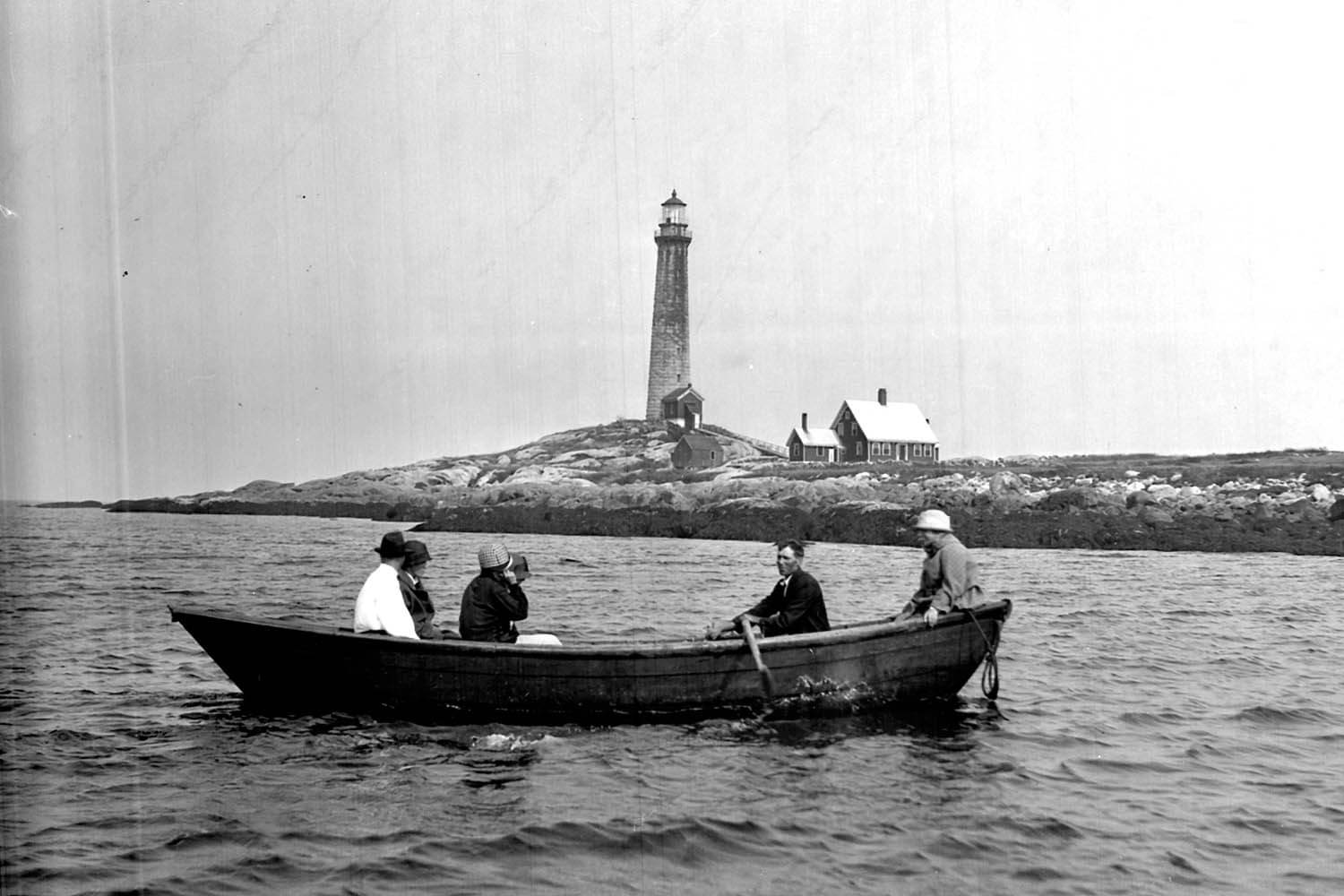 Visitors arrive from Loblolly Cove c.1930.