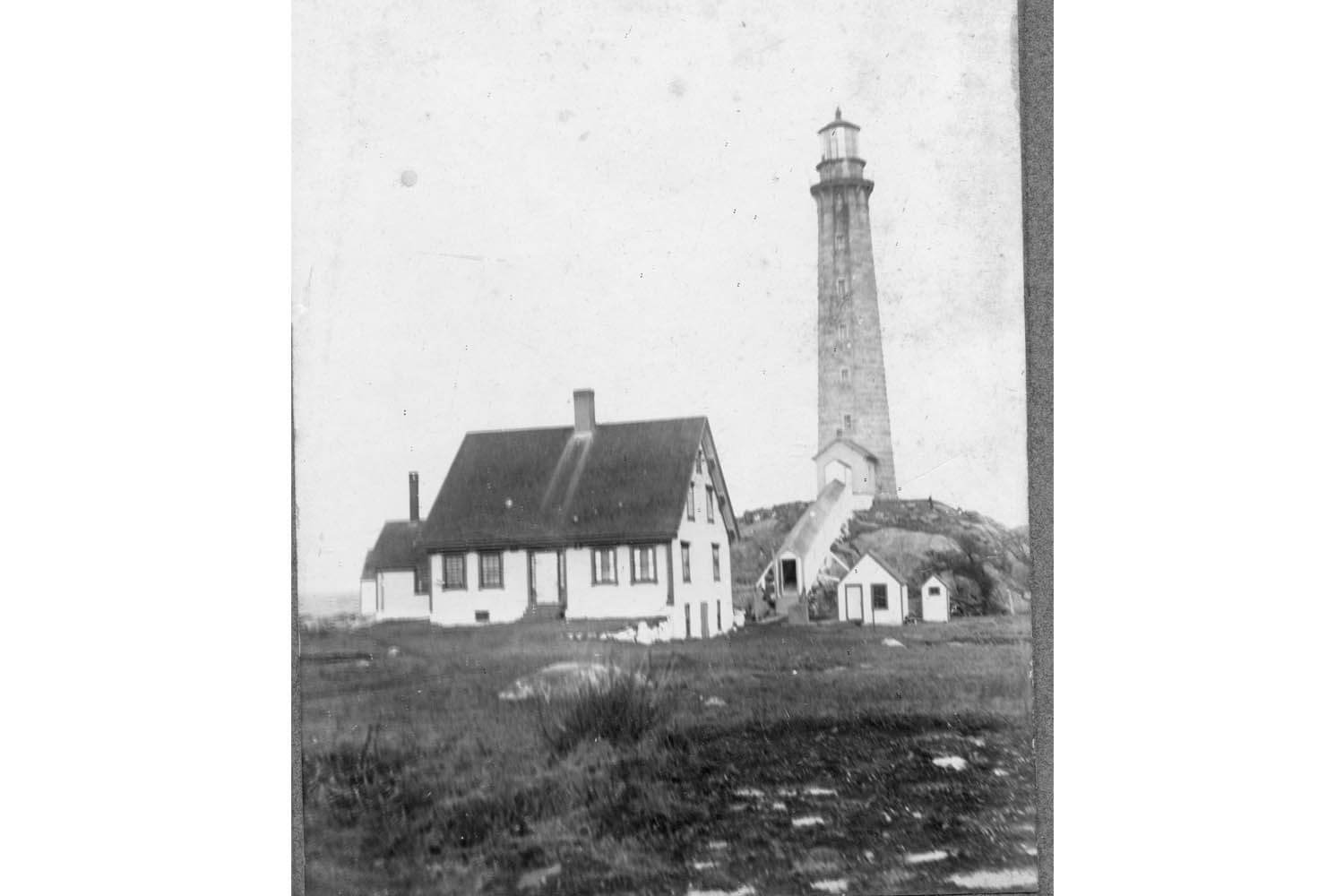North tower with covered walkway c.1910.