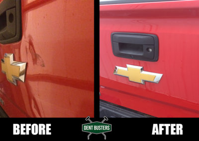 DB - RED TRUCK - BEFORE AFTER