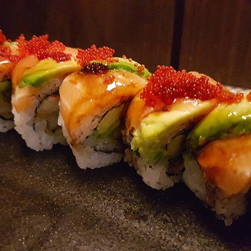 Spicy Salmon Dragon Roll 1
