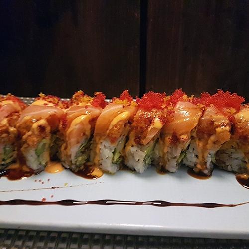 Spicy Salmon Dragon Roll 2