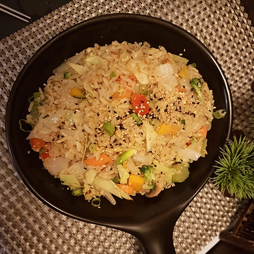 hot dish rice and vegetables