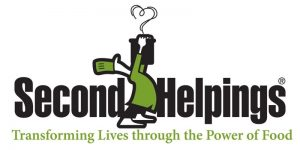 Second Helpings color logo with tagline