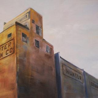 Hunter Grain Elevator - Oil Paint 2016