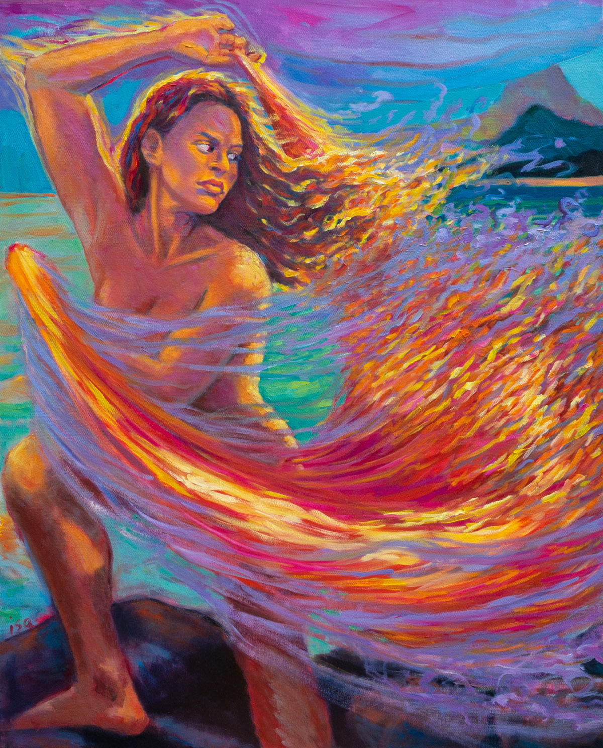 Dancing with Veil of Fire