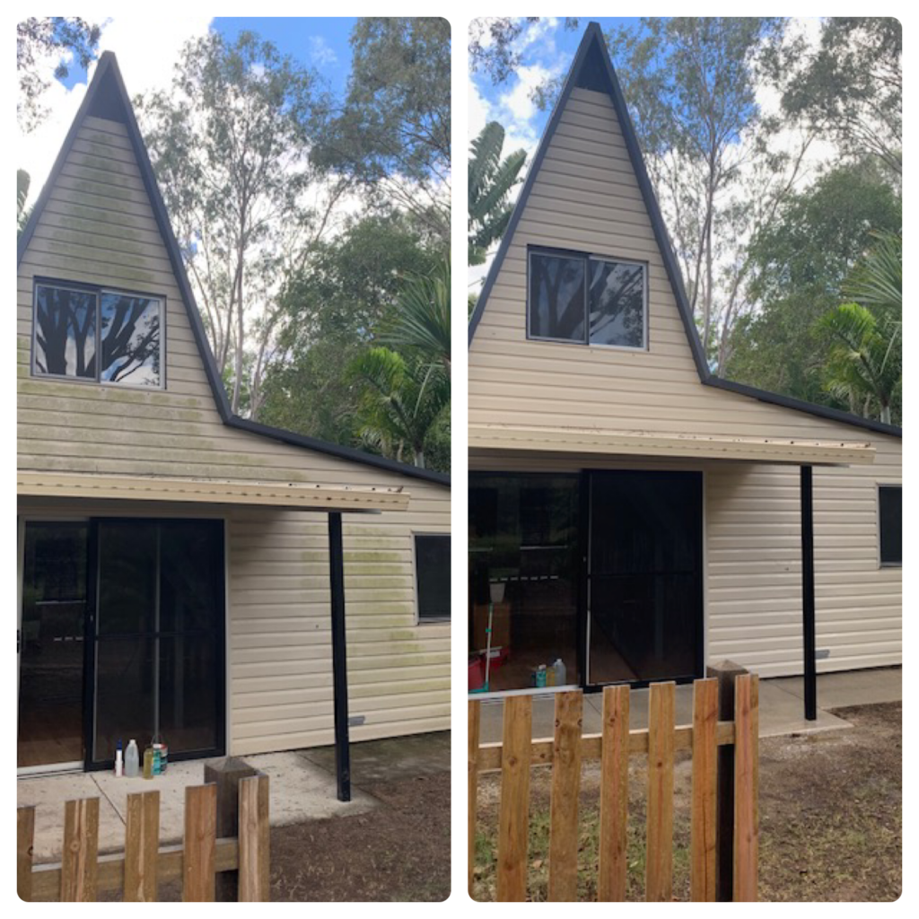 Gentle house exterior cleaning