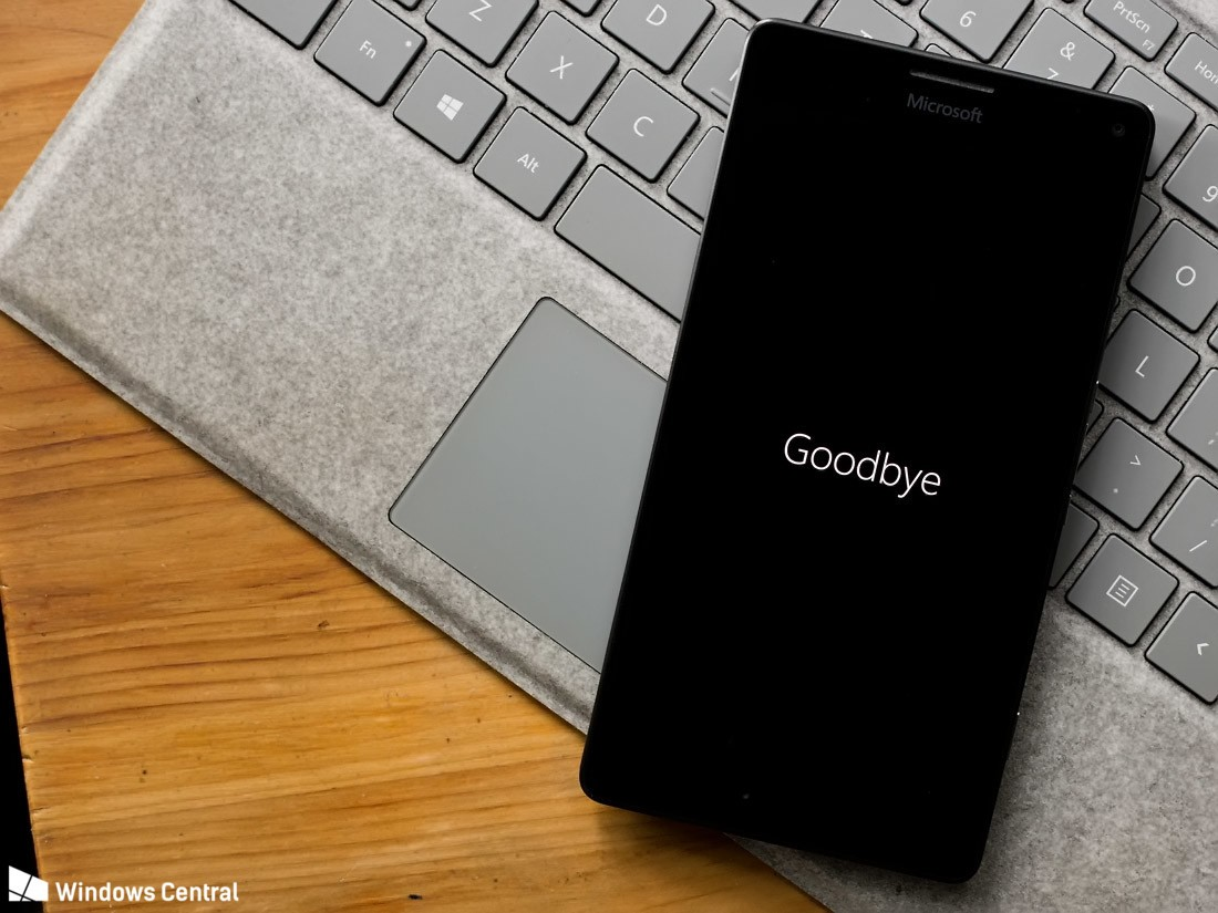 Windows Phone Goodbye