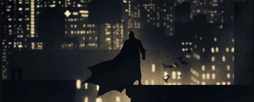 Batman su un tetto