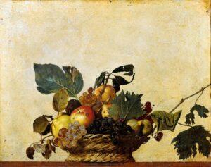 Caravaggio, Canestra di frutta, 1599