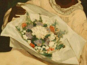dettaglio decorativo, Olympia, Manet, 1863
