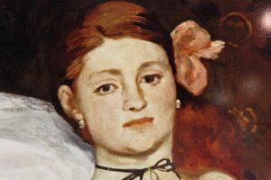 Dettaglio volto, Manet, Olympia, 1863