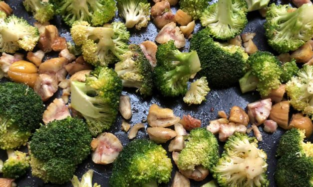 Broccolli with Roasted Chestnuts