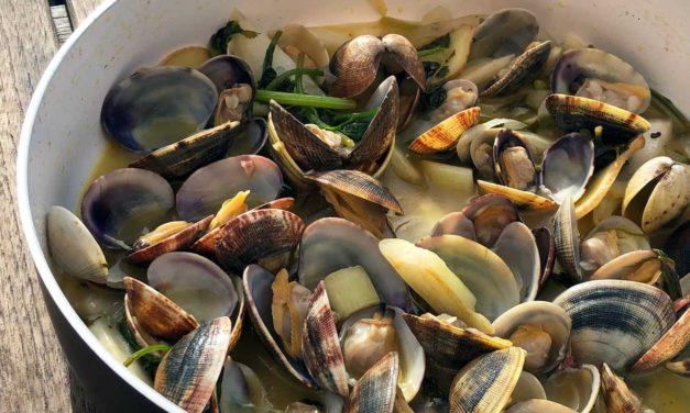 Steve's Sautéed Clams with Garlic & Ginger