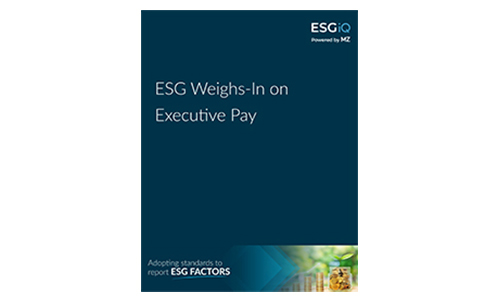 White Paper - ESG Weighs in on Executive Pay