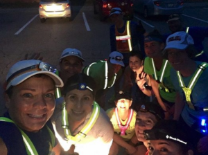 Striders all lit up for a Pennicuck run some cold winter's eve!