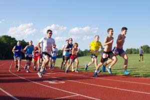 Striders running outdoor track