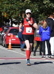 Tara running at the 2018 CHaD Half Marathon. Part of the NHGP series!