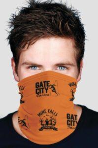 MFATA buff worn as a face covering
