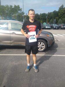 Thomas doing the Boston Marathon 2020 Virtual Race in 2:46:06!